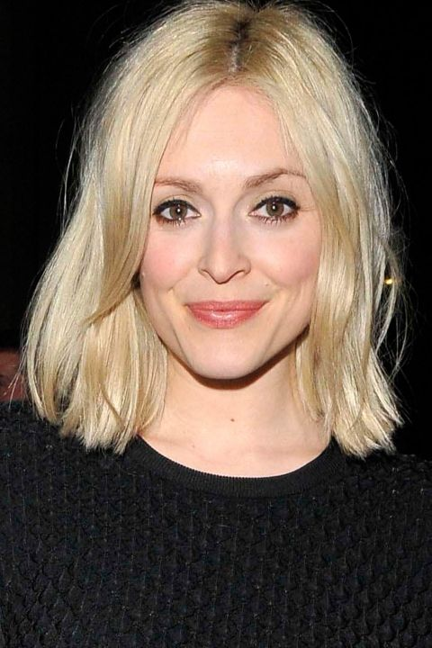 Fearne Cotton Lets Her Golden Blonde Bob Hang Naturally At A Charity Auction In London, 2014
