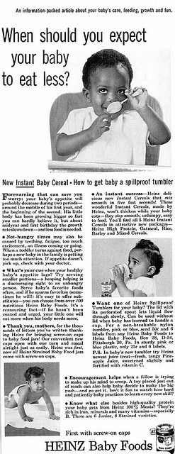 Heinz Baby Foods Advertisement - Ebony Magazine, February, 1960 | by vieilles_annonces