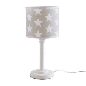 Childrenu0027s Bedside Lamp - Grey Star