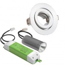 VoltiDEALS: Nelson - 12W LED Downlight Kit Gimble 3000 K White