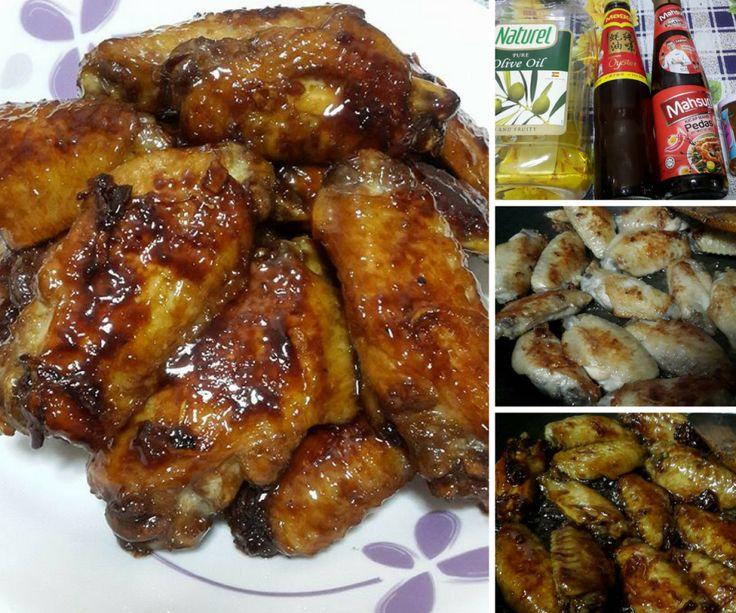 Kepak Ayam Bakar Madu Resipi Bajet Mudah Sedap Masak Guna Kuali Je Rasa Cooking Recipes Recipes Cooking
