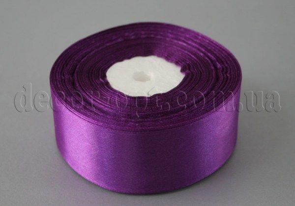 Лента атласная фиолетовая 4,00 см 36ярд