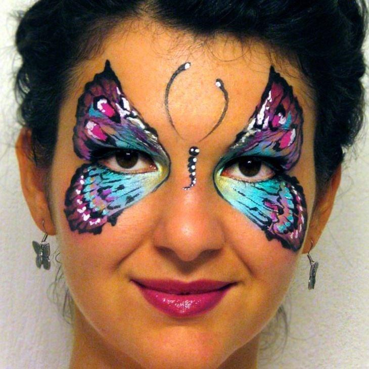 Olga Meleca Butterfly Face Paint Pinterest