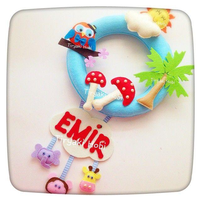 ♥ Tiryaki Hobi ♥: Keçe kapı süsü ( EMİR)  --------   felt wreath