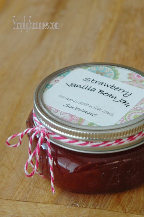 Simply Suzanne's AT HOME: strawberry vanilla bean jam . . .