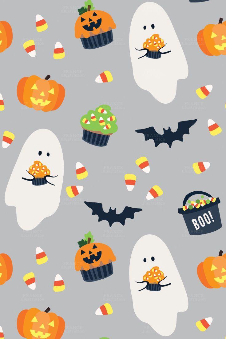 99c Sale Halloween Digital Paper Cute Kids Party Invitation