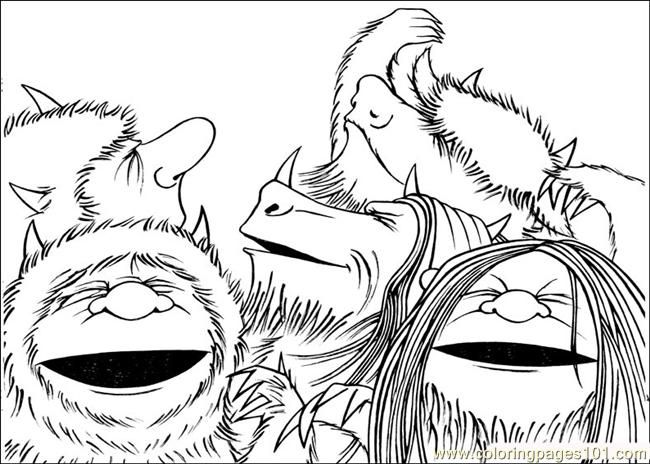 Wild Things Are Colouring Pages Page