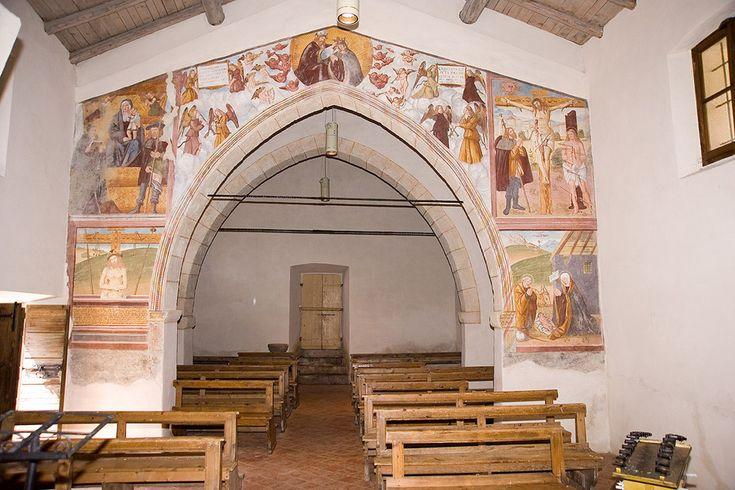 Valtorta, museo diffuso (Bergamo, Italia) - Chiesa di San Antonio in frazione Torre - affreschi cinquecenteschi dei pittori Baschenis (?)