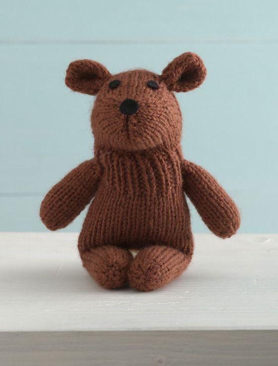 FREE knitting patterns for charity: teddy bear knitting pattern download at LoveKnitting