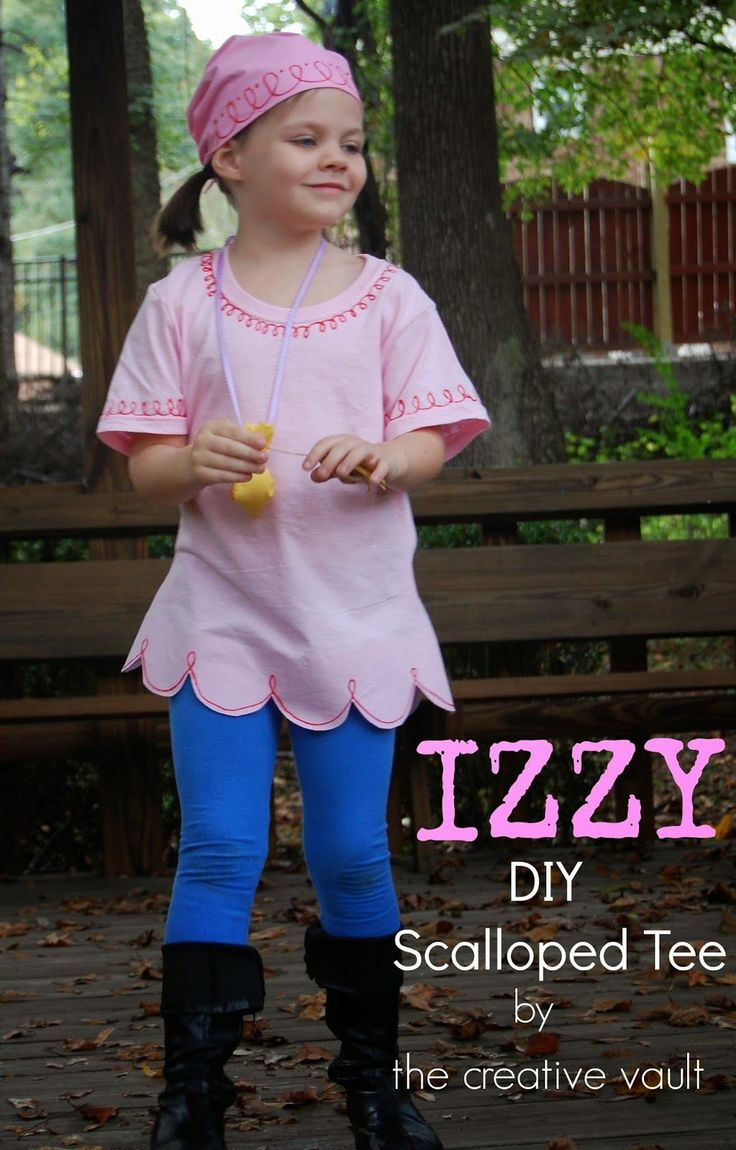 The Creative Vault: Jake & Izzy Neverland Pirates Costumes {DIY No Sew Scalloped…