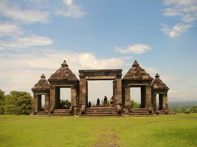 Ratu Boko, #Yogyakarta. Wonderful spot to watch sunset.