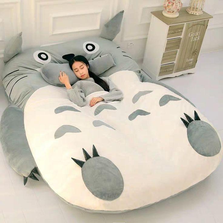Kawaii Totoro Sleeping Mat Bed | Kids room, Room decor ...
