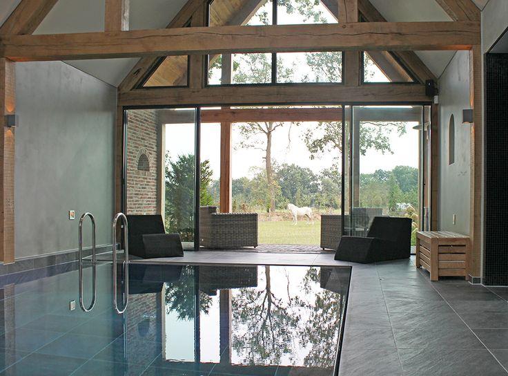 Glazen schuifpuien van minimal windows serre aanbouw pinterest - Studio stijl glazen partitie ...
