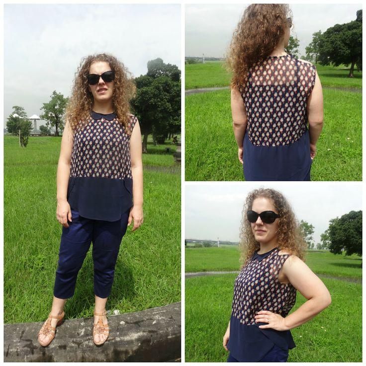 Mrs. Bao 包: Crescent blouse from Megan Nielsen