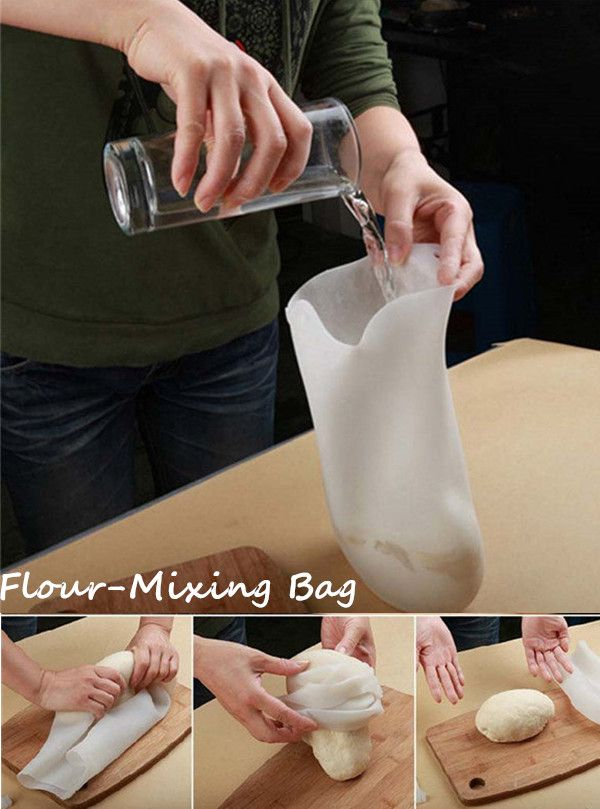 How to mixing Flour in the silicon bag in 1 minute?#pizza#mixingbag#baking#cook