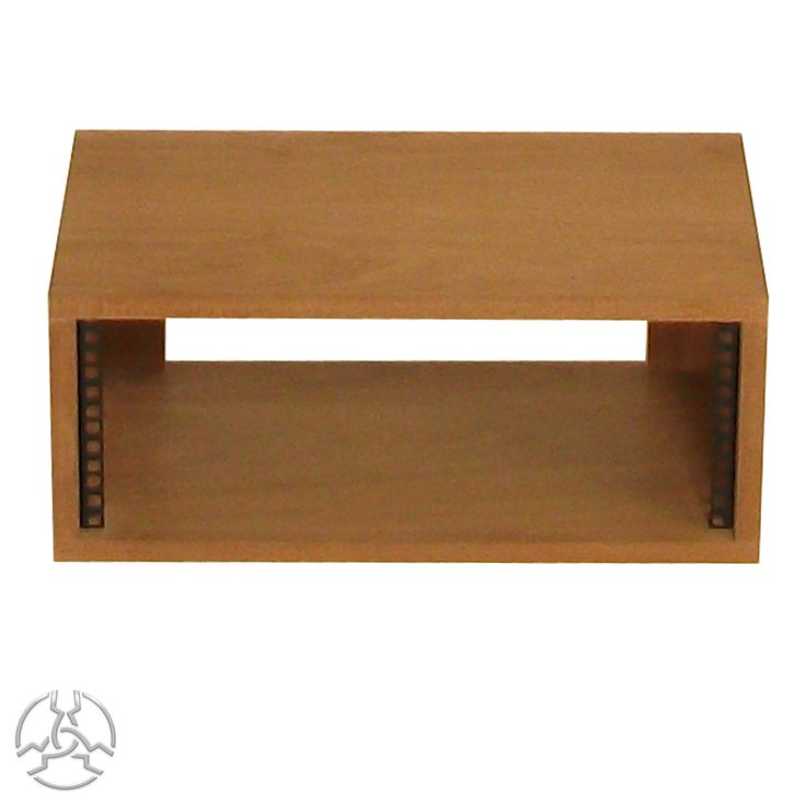 SMP4VSap 19 inch 4U Rack Pod- £81.00 - Inc vat.   Description: Supplied assembled with front rack strip fitted. Manufactured from 19mm Real Wood Sapele Veneered MDF with 2mm edge-banding on the front (not on back) and a wax finish. All rack units are supplied with 4 nuts, bolts and washers.