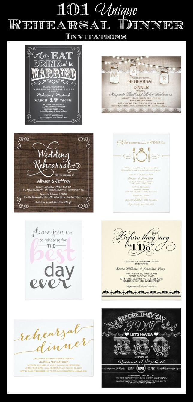 101 Unique Rehearsal Dinner Invitations #wedding