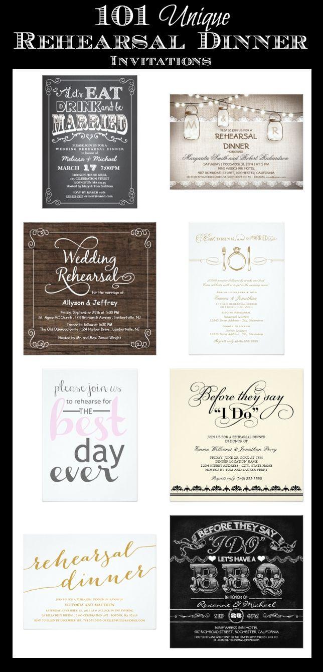 101 Unique Rehearsal Dinner Invitations #wedding