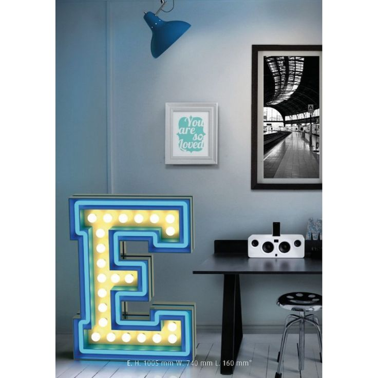 Graphic lamp retro style typeface with LED technology. Love it! Delightfull's collection includes letters A-Z, numbers 1-9, and common symbols