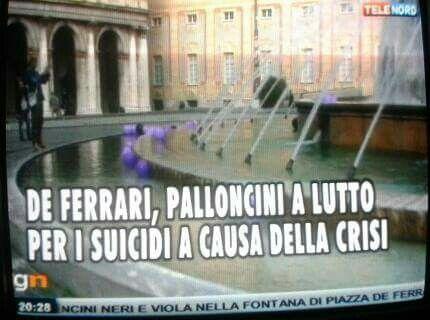 Genova, 1 maggio 2014, 365 suicidi atto secondo. Installazione artistica dedicata alle vittime della crisi economica