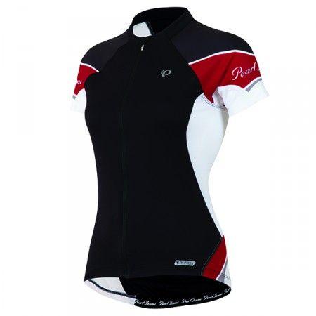 Cykeltröja Pearl Izumi Elite kort ärm dam svart/crimson - Cykeltröjor kort ärm - Cykelkläder - Träningskläder - Maxpuls.se
