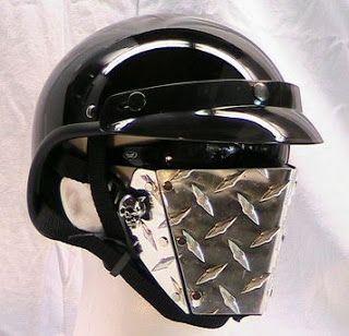 Motorcycle Custom Helmets Metal Face Masks