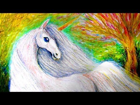 Draw a Unicorn with Oil Pastel