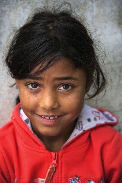 Roma girl at Saint Simeon's celebrations, Mesolongi, Greece.