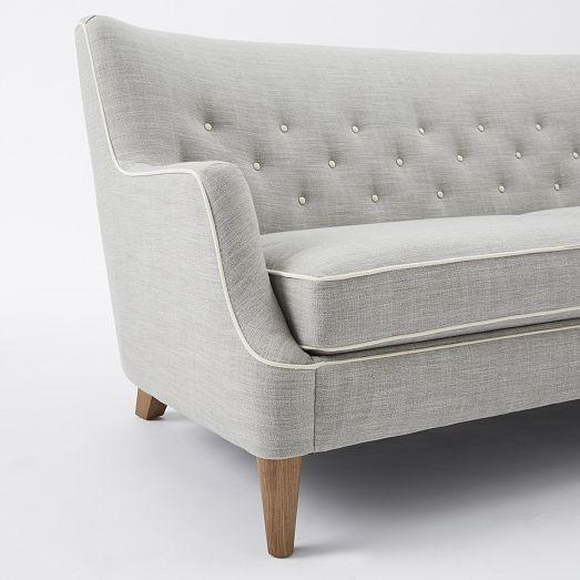 grey sofa w/white details