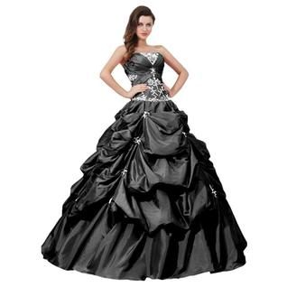 Ball Gown Appliqued Long Prom Gowns Quinceanera Dresses #ShopSimple