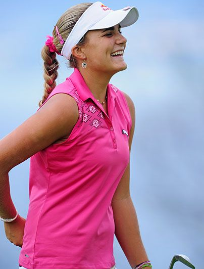 Lexi Thompson In 2007, Thompson, 12, became the youngest to qualify for the U.S. Women's Open. The next year, she won the U.S. Girls Junior Championship at 13. After turning pro at 15, she finished runner-up at the 2010 Evian Masters and won the 2011 Navistar LPGA Classic by five shots at 16 to shatter the tour's record for youngest-ever winner.