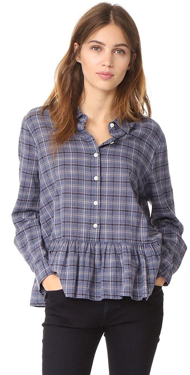 THE GREAT. The Ruffle Oxford Shirt | SHOPBOP