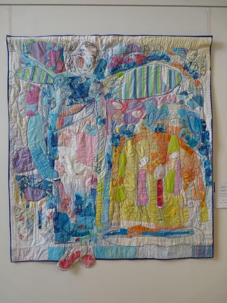 Anne Smith (UK) - Gabriel (18 Biennale Quilt National, USA) Kocham!