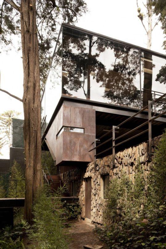 Die 806 Besten Bilder Zu Villa, Bungalows Auf Pinterest | Villas ... Glas Fassade Spiegelfassade Baumhaus