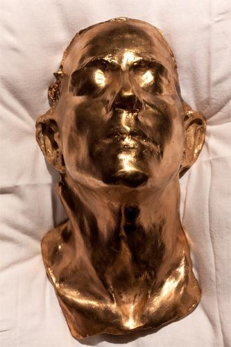 Cléa van der Grijn  Ambivalence 23 May - 22 June Death Mask Polished Bronze
