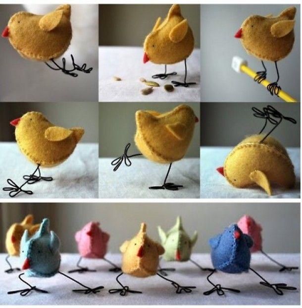 pasen | kipjes gemaakt van vilt. Door Mjam
