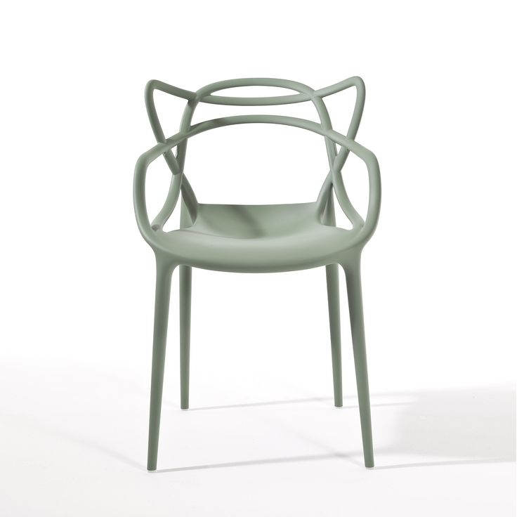 polypropylene chair sage green mod masters kartell. Black Bedroom Furniture Sets. Home Design Ideas