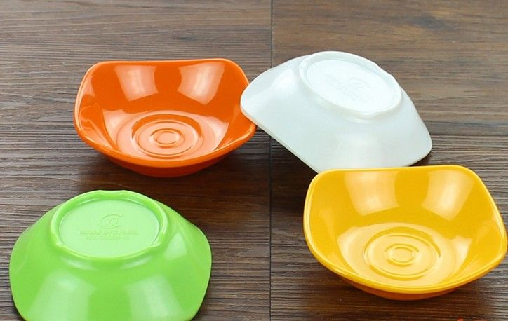 Modern Tableware Soy Sauce Dish Plate Plastic Melamine Round Square Flavoring Dishes Small Plate Sauce Seasoning Dishes Spice
