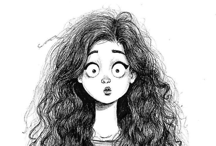 Смешные рисунки карандашом девушек, день