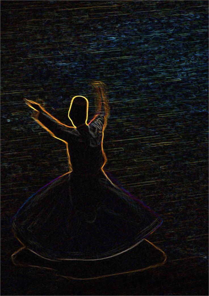 """Gökyüzünden, Ülker (Pleiades) yıldızından cana şöyle bir ses geldi: """"Sen, yeryüzüne mensup değilsin; sen, ötelerden geldin! Bu yüzden, aklını başına al da, yücelere yüksel, tortu gibi dibe çökme!.. Rumi (Divan-ı Kebir, 931)"""