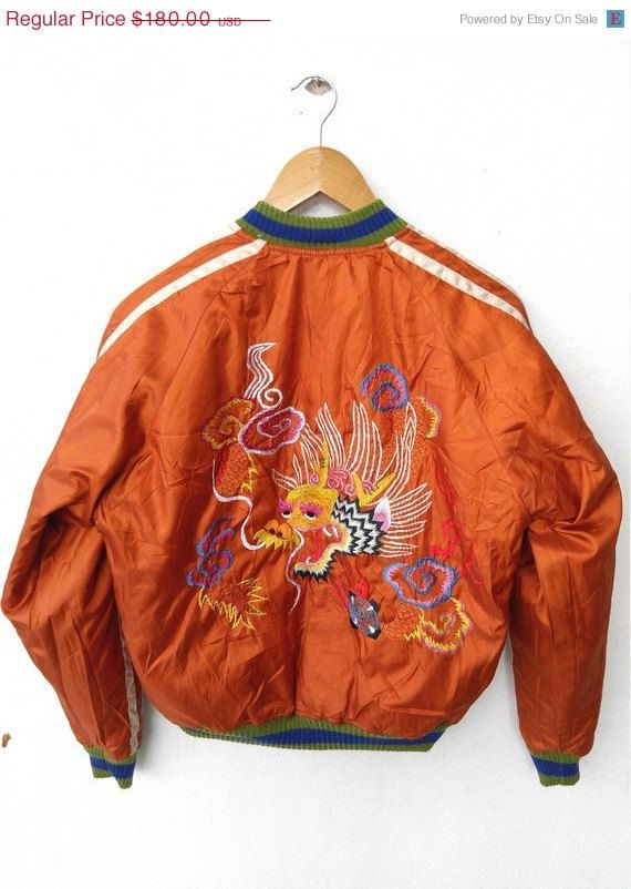 Vintage sukajan japanese embroidery jacket johnson ww