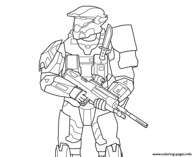 Print Halo 5 Coloring Pages