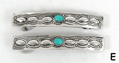 Sterling Silver and turquoise barrette