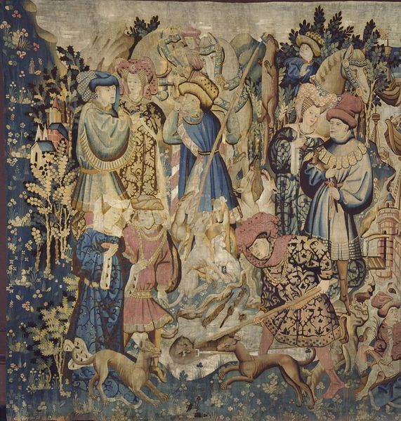 The Devonshire Hunting Tapestries; Swan and Otter Hunt (Tapestry) | V&A Search the Collections