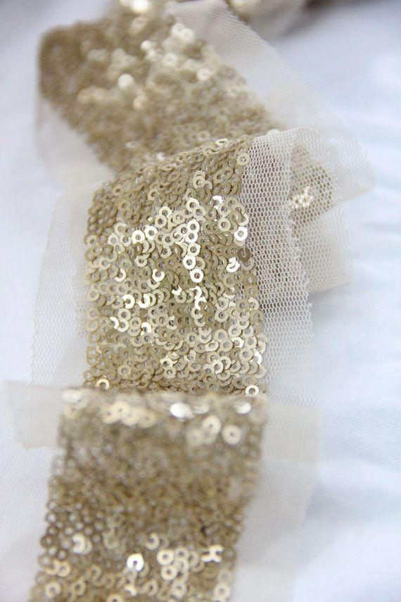 Gold Sequins Trim Diy Sash On The Pink Dresses