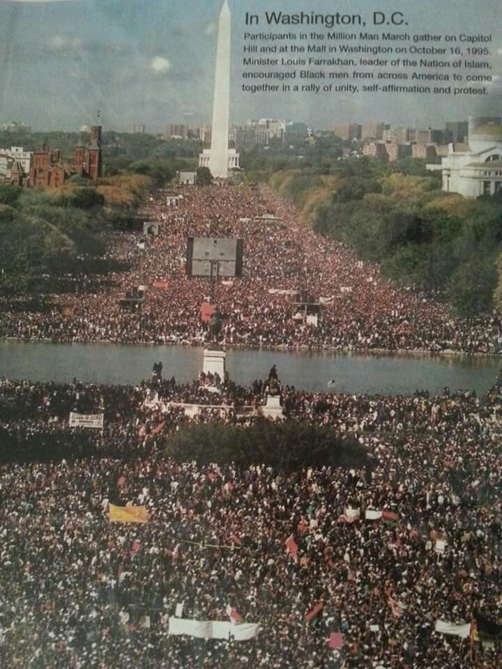 Million Man March Washington DC 1995