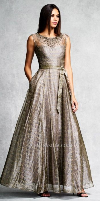 Brick Printed Evening Gown by Aidan Mattox #edressme