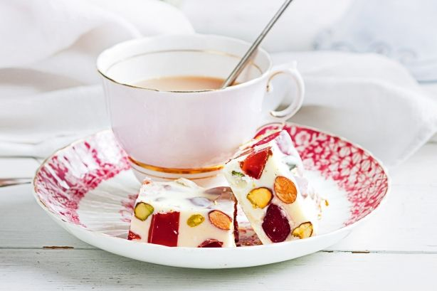 Jewelled with fruit and nuts, this is an elegant teatime treat.