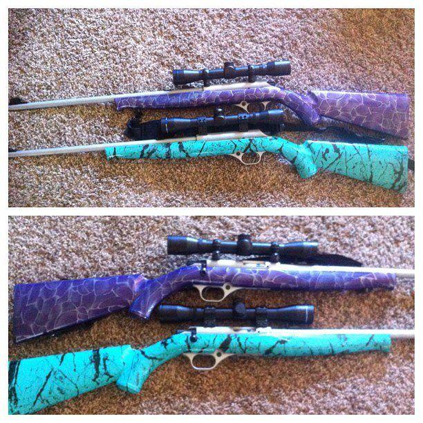 my purple gun and sisters sea foam geen gun !!! @Caitlin Burton Burton Burton Berndt