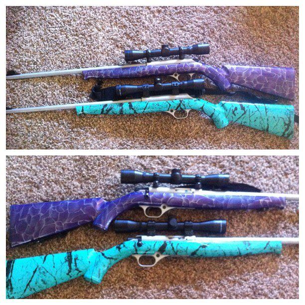 my purple gun and sisters sea foam geen gun !!! @Caitlin Berndt